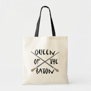 Funny Queen of the Baton Conductor Gift Tote Bag
