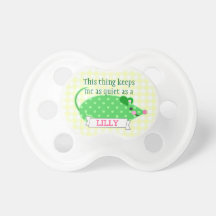 Funny Quiet Mouse Baby Girl Pacifier