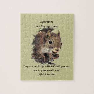 Funny Quit Smoking Motivational Quote Jigsaw Puzzle