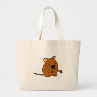 Funny Quokka Taking Selfie Large Tote Bag