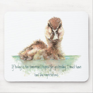 Funny Quote about Life Sucks Cute Angry Duck, Bird Mouse Mat