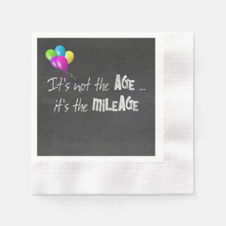 funny quote about old age on chalkboard paper serviettes
