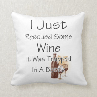 Funny Quote About Wine, Drinking Cushion