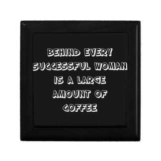 Funny Quote - behind every succesful woman Gift Box
