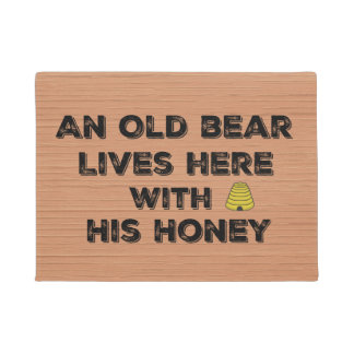 Funny Quote Old Bear and Honey Doormat