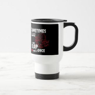 funny quote, slap 8 people at once travel mug
