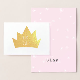 Funny Quote Yasss Queen Card