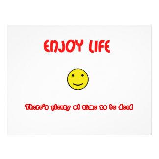 Funny quotes Enjoy life 21.5 Cm X 28 Cm Flyer