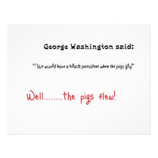 Funny quotes George Washington said 21.5 Cm X 28 Cm Flyer
