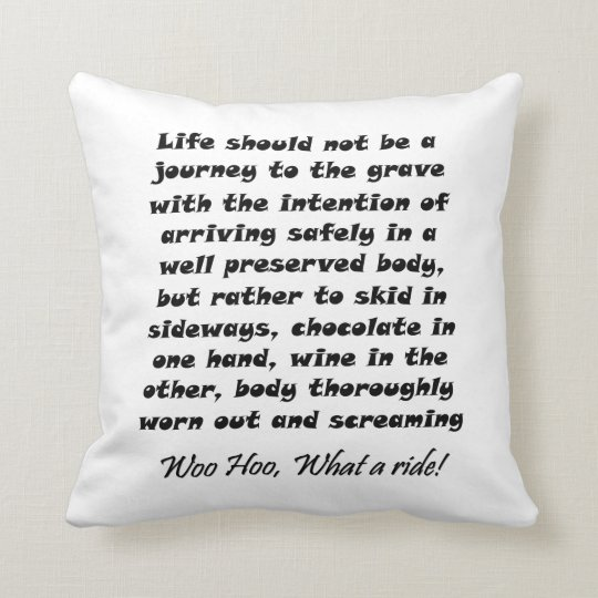 Funny quotes gifts unique humour joke throw cushion
