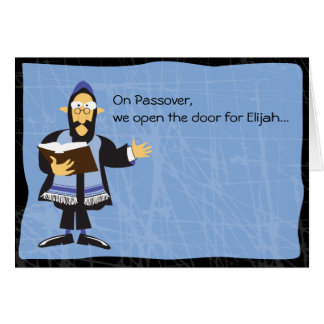 FUNNY RABBI PASSOVER Greeting Card