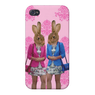 Funny rabbit girls going shopping case for the iPhone 4