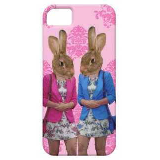 Funny rabbit girls going shopping iPhone 5 covers