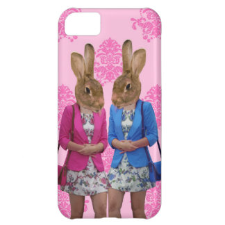 Funny rabbit girls going shopping iPhone 5C case