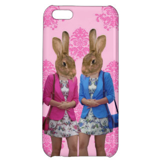 Funny rabbit girls going shopping iPhone 5C cover