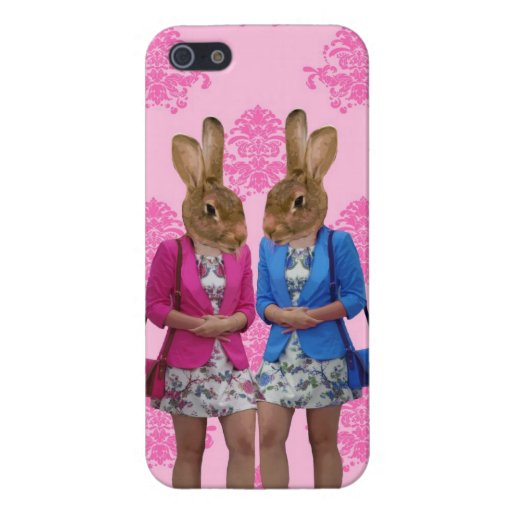 Funny rabbit girls going shopping iPhone 5 cases