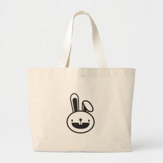 funny_rabbit jumbo tote bag