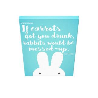 Funny Rabbits Canvas Print