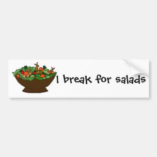 Funny Rabbits in a Salad Art Bumper Sticker