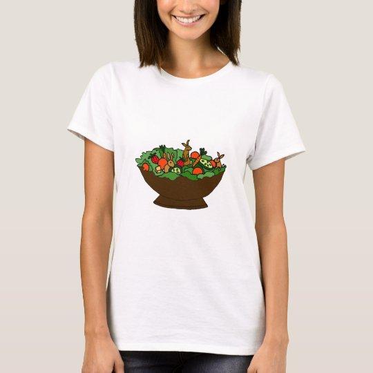 Funny Rabbits in a Salad Art T-Shirt