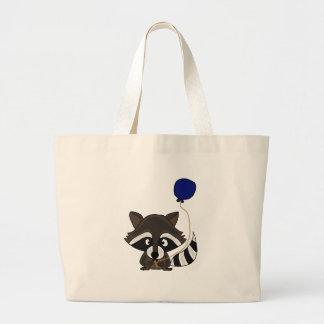 Funny Raccoon Holding Balloon Tote Bag