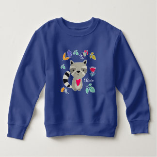 Funny Raccoon with Heart  Custom Infant Sweatshirt