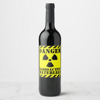 Funny RADIOACTIVE Material Halloween Wine Label
