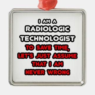 Funny Radiologic Technologist T-Shirts Christmas Ornaments
