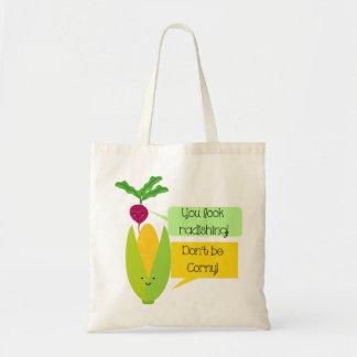 Funny Radish and Corn Vegetable Humor