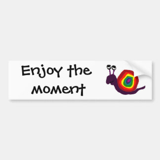 Funny Rainbow Art Snail Bumper Sticker