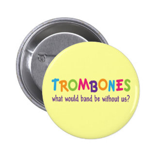 Funny Rainbow Trombone Band Gift 6 Cm Round Badge