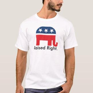 Funny Raised Right Republican Patriotic T Shirt