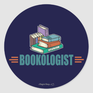 Funny Reading Round Sticker