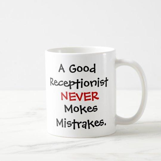 Funny Receptionist Joke Quote Coffee Mug
