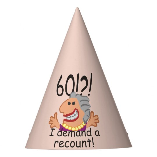 Funny Recount 60th Birthday Party Hat