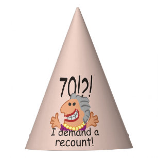 Funny Recount 70th Birthday Party Hat