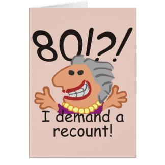 Funny Recount 80th Birthday Card