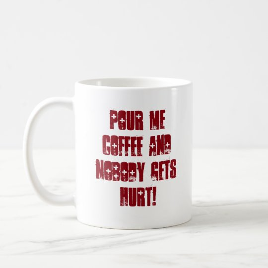 Funny Red and Black Typography Message Coffee Mug