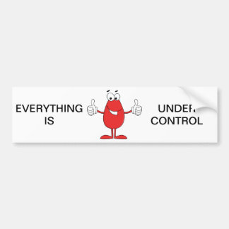 Funny Red Cartoon Bumper Stickers