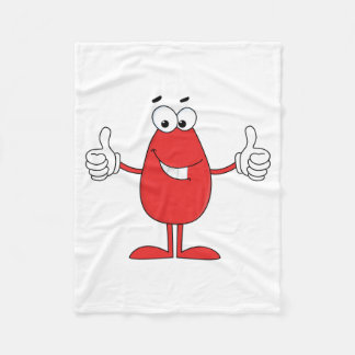 Funny Red Cartoon Fleece Blanket