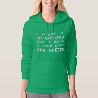 Funny Red - Green Color Blindness Hooded Sweatshirt
