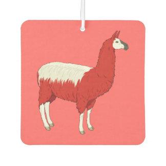 Funny Red Llama Car Air Freshener
