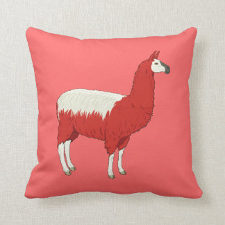 Funny Red Llama Cushion