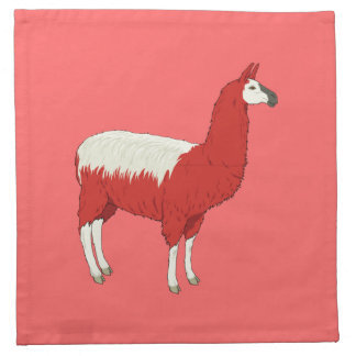 Funny Red Llama Napkin