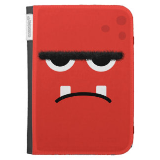 Funny Red Monster Face Kindle Keyboard Case