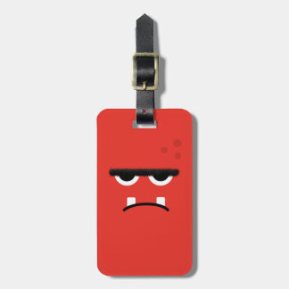 Funny Red Monster Face Luggage Tag