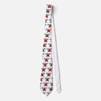 Funny Red Nose weird  eyes glasses moustache Tie
