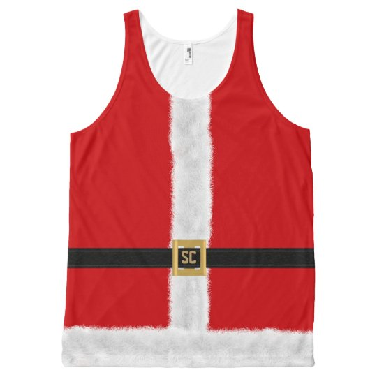Funny Red Santa Suit Festive Christmas All-Over Print