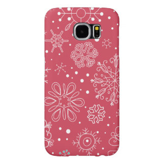 Funny Red Snowflakes Pattern