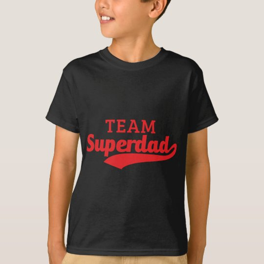 Funny Red Team Super Dad inspired text T-Shirt